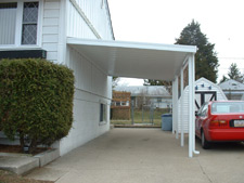 Carport installed on the side of a home